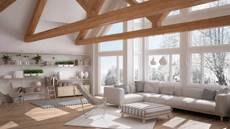 Eco friendly house with feature wooden beams