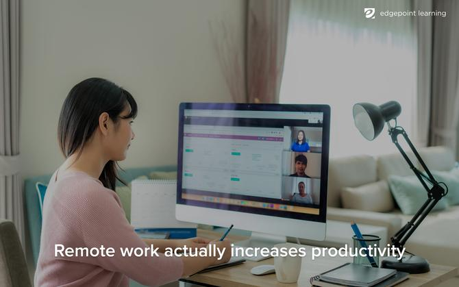 Remote work actually increases productivity