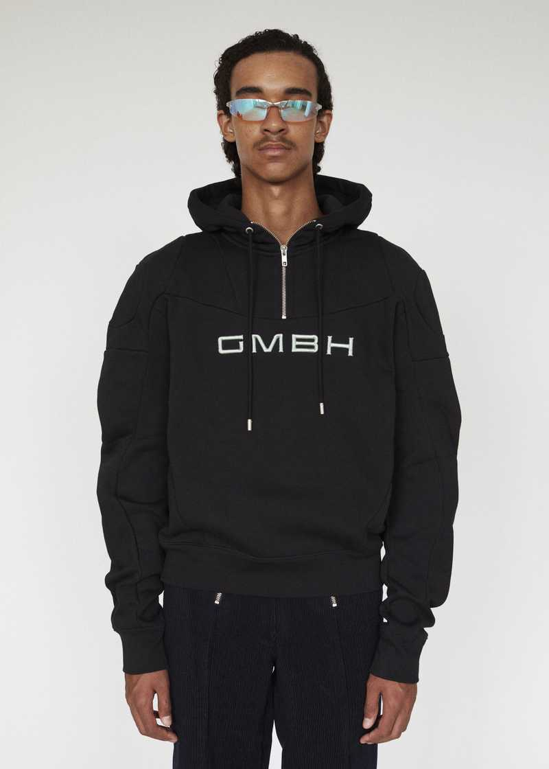 DASH GMBH AW19 HOODIE BLACK PREVIEW
