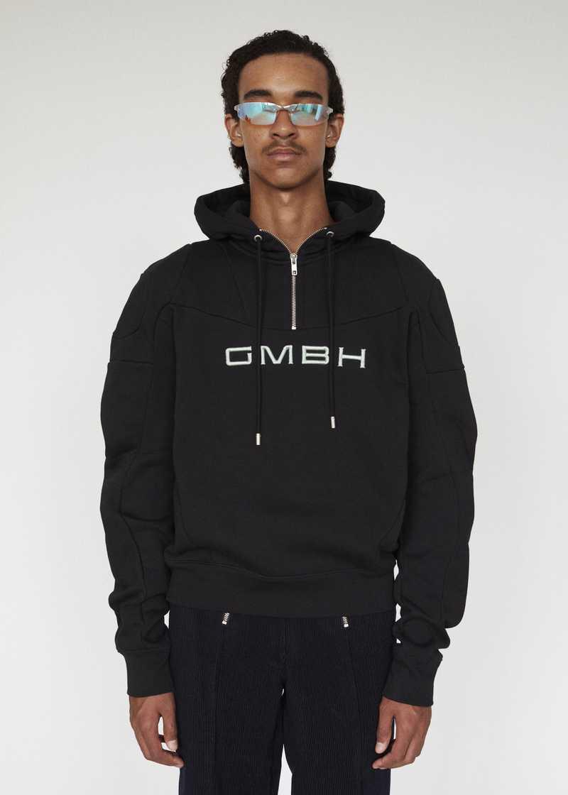 DASH GMBH AW19 HOODIE BLACK FRONT