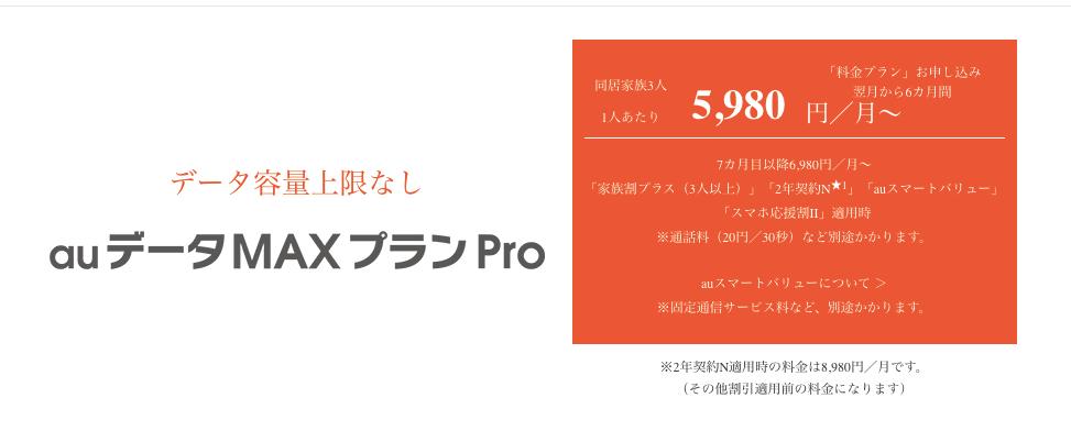 auデータマックスProのホームページ