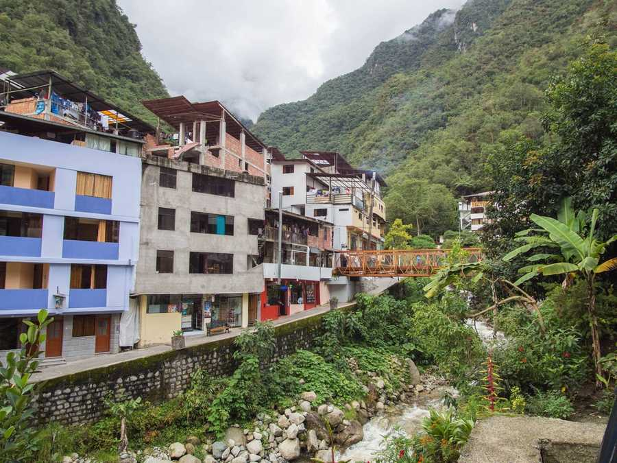 Aguas Calientes is from a different planet