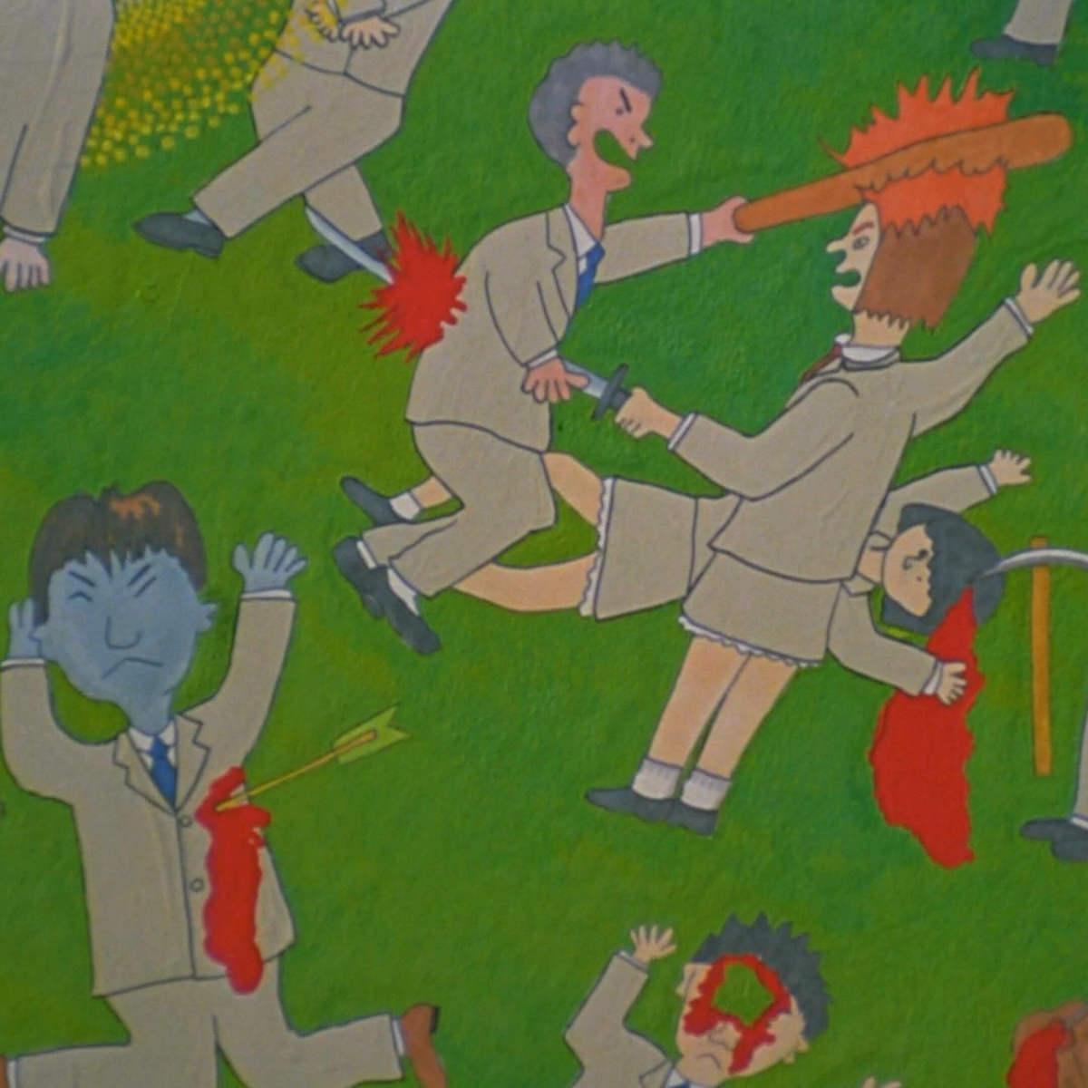 Кадр изфильма «Королевская битва», режиссер Киндзи Фукасаку (2000). Источник: imdb.com