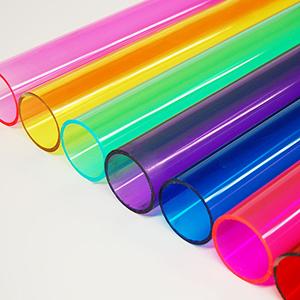 Tubi di varie dimensioni e colori in PVC