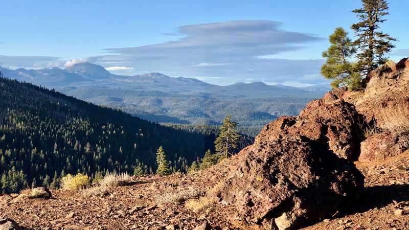 Clouds over Lassen Peak