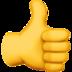 emoji thumbs up sign