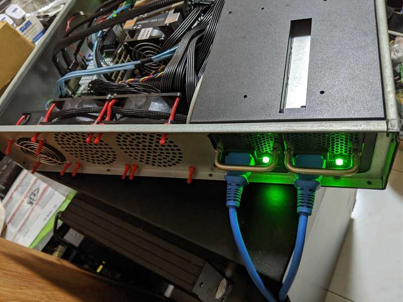 Back View of the Server