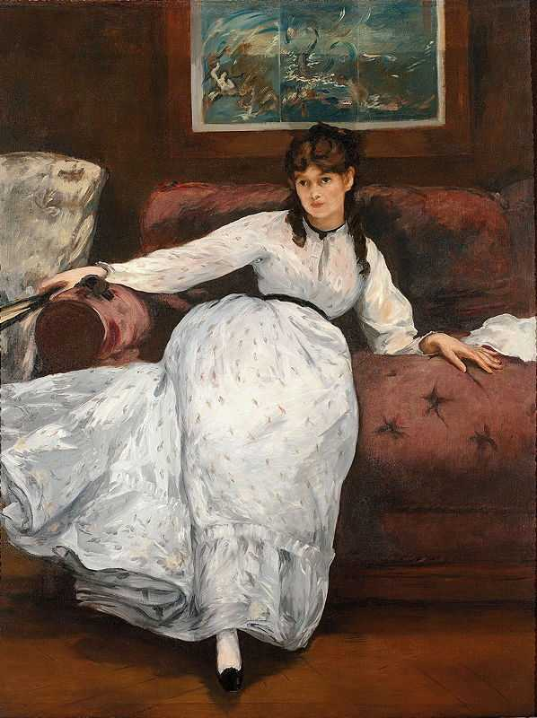 Berthe Morisot posing for The Rest, 1870, By Édouard Manet
