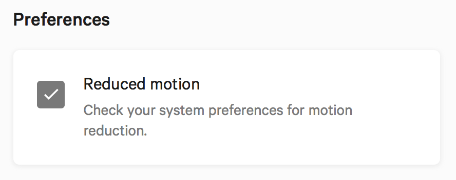 Checked & disabled checkbox when reduced motion is enabled from the OS