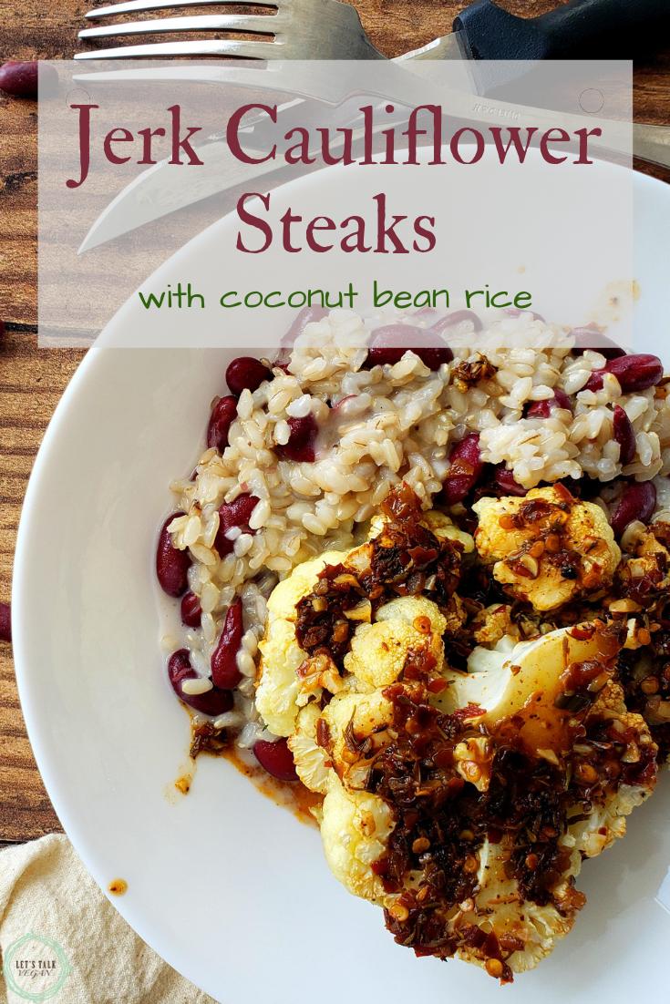 Jerk cauliflower steaks with rice pinterest asset