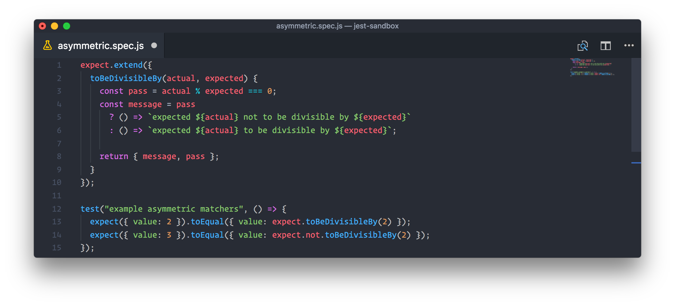 Custom asymmetric matchers in action