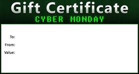 Gift Certificate Template Cyber Monday 01
