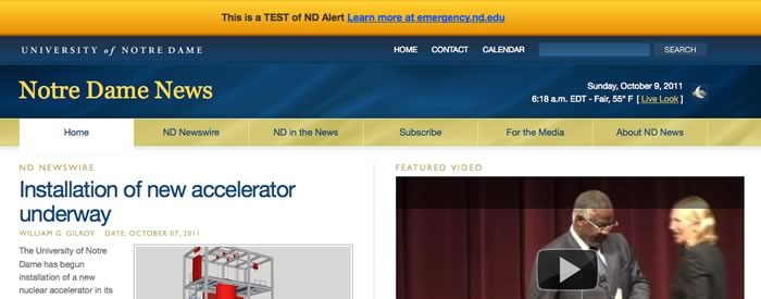 newsinfo.nd.edu in Notification mode