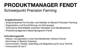 PRODUKTMANAGER FENDT