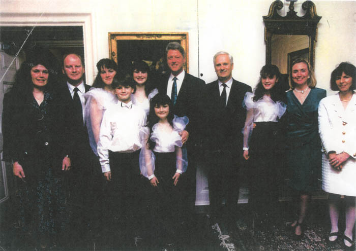 Christina with President Clinton - The Foundation for the Lives of My Children