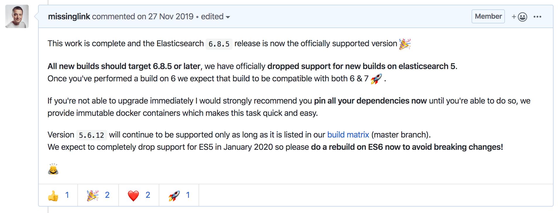 Elasticsearch 6