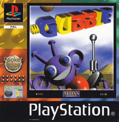 The box art for Gubble on the PlayStation