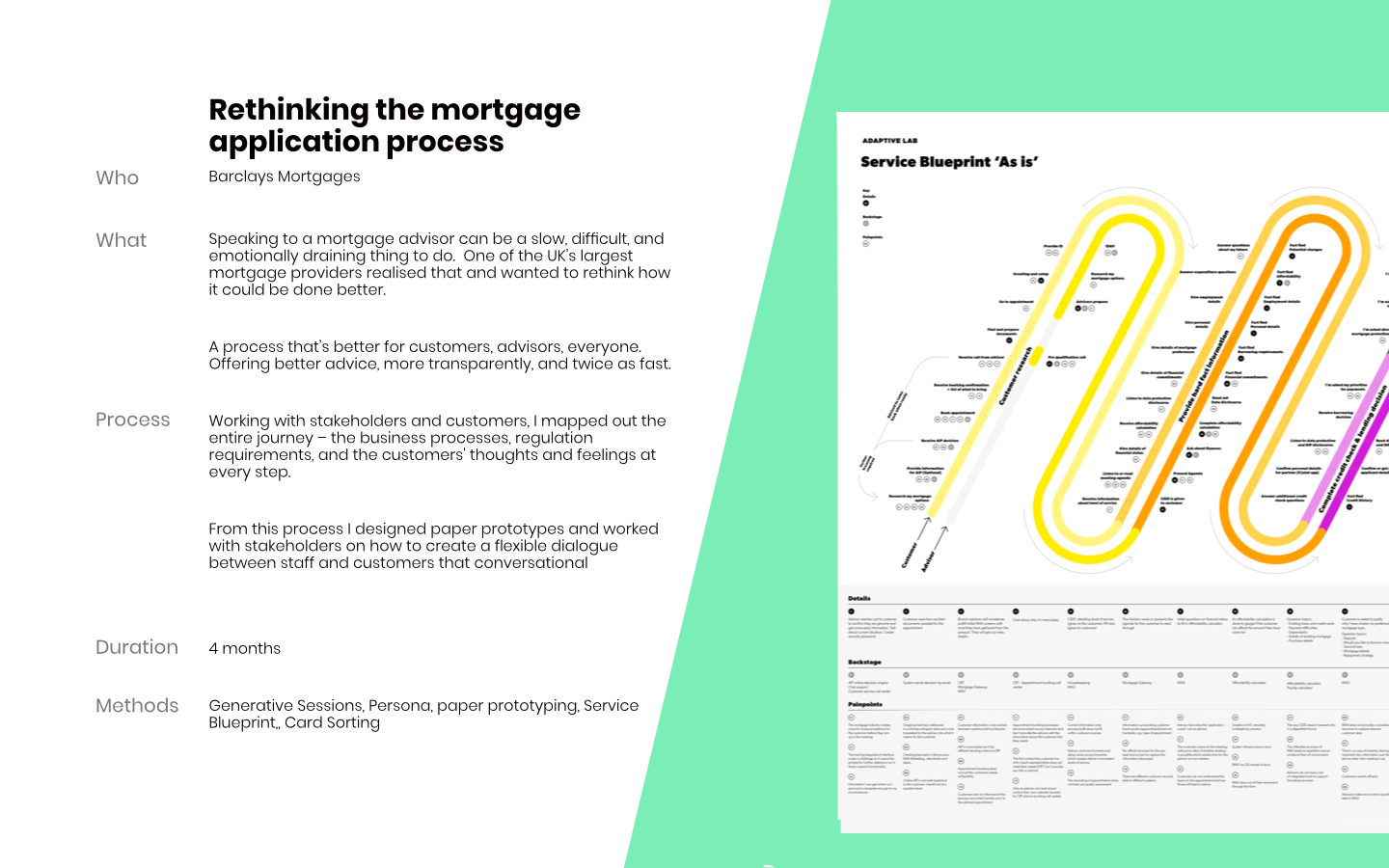 Barclays Mortgages Service Design work