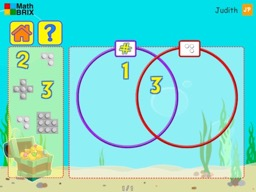 Sorting numerals and blocks with Venn diagrams Math Game