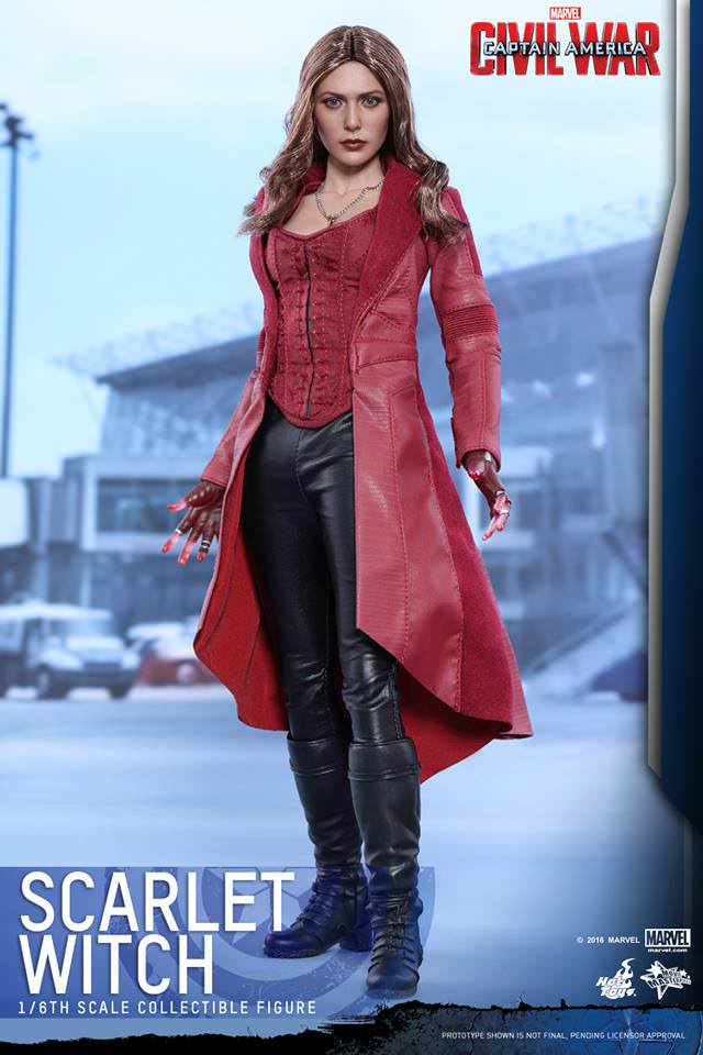 Hot Toys Captain America: Civil War MMS370 Scarlet Witch 1/6th Scale Collectible Figure