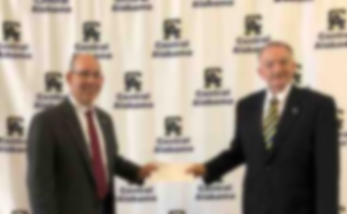Senator Chambliss Presents $80,000 Check to CACC to Help with New Campus Location