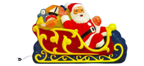 Giant Santa Sleigh, Santa Sleigh photo
