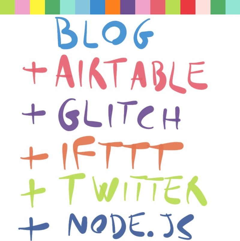 Tutorial, repurpose old blog posts on Twitter using Airtable and Glitch