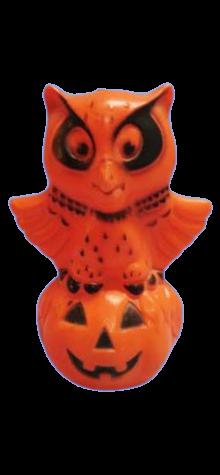Owl Pumpkin Lamp photo