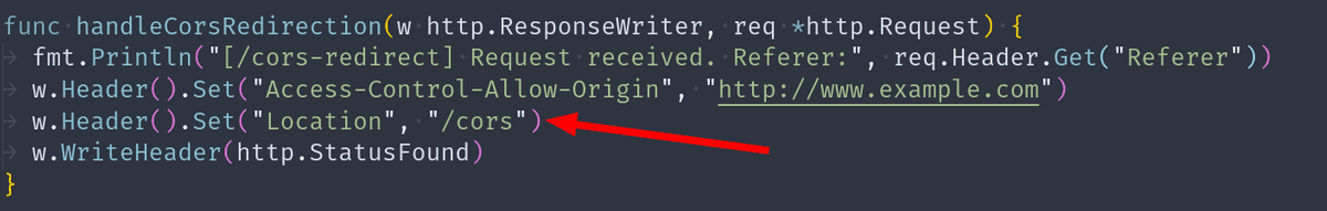 Endpoint that redirects to /cors