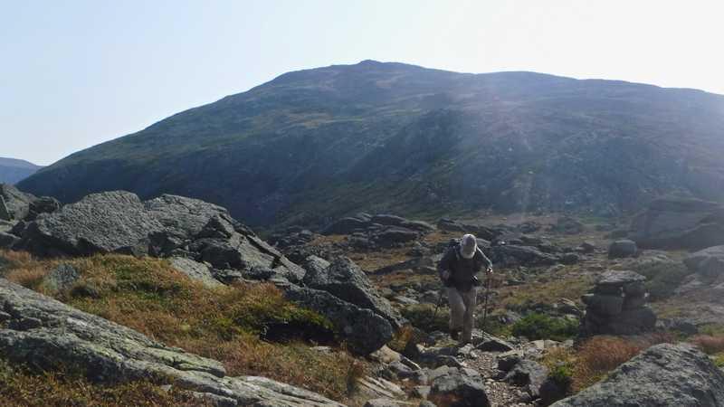 Stick goes up Mt. Adams