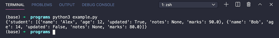 Python string to json