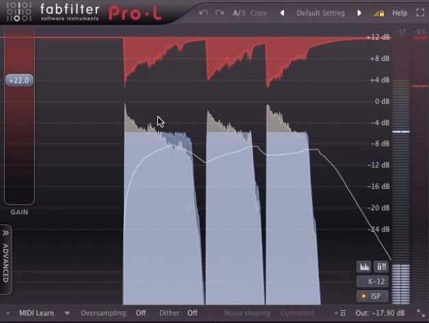 Fabfilter's Pro-L limiter