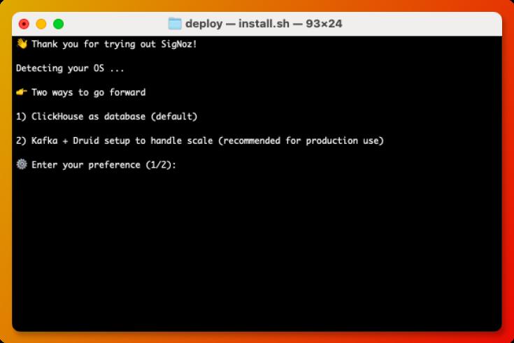 Installing SigNoz through Docker