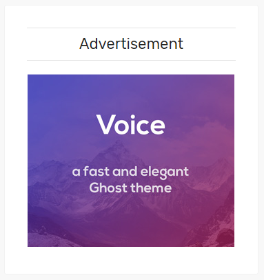 Voice Advertisement