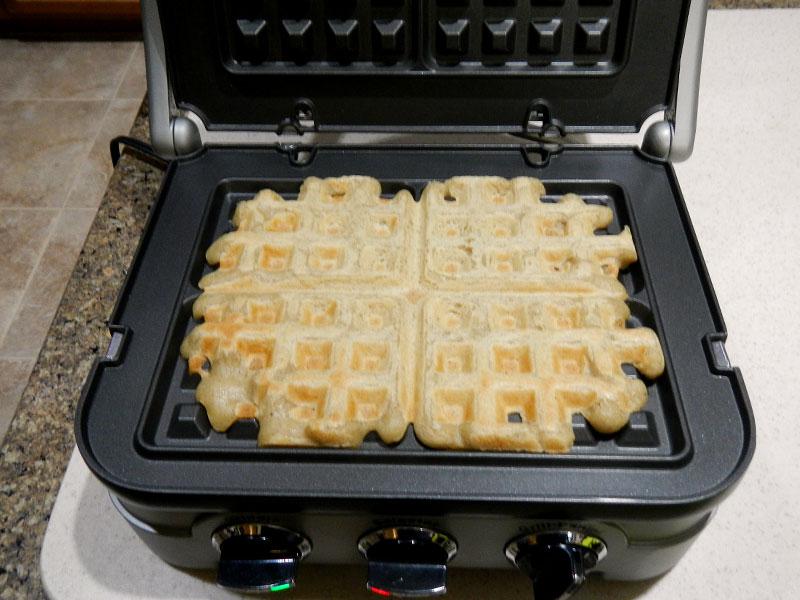 GF Waffles on Griddle