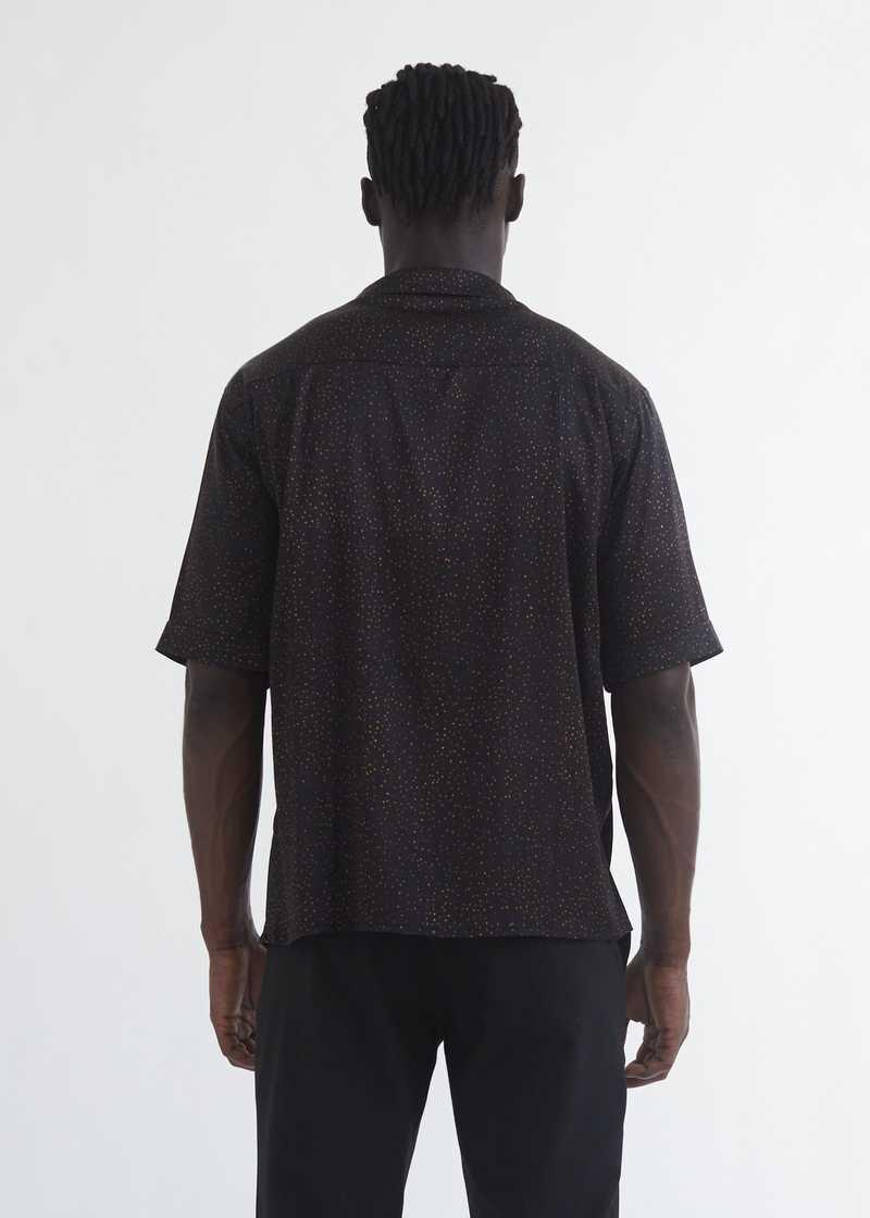 Luka bowling Shirt with zodiac print back