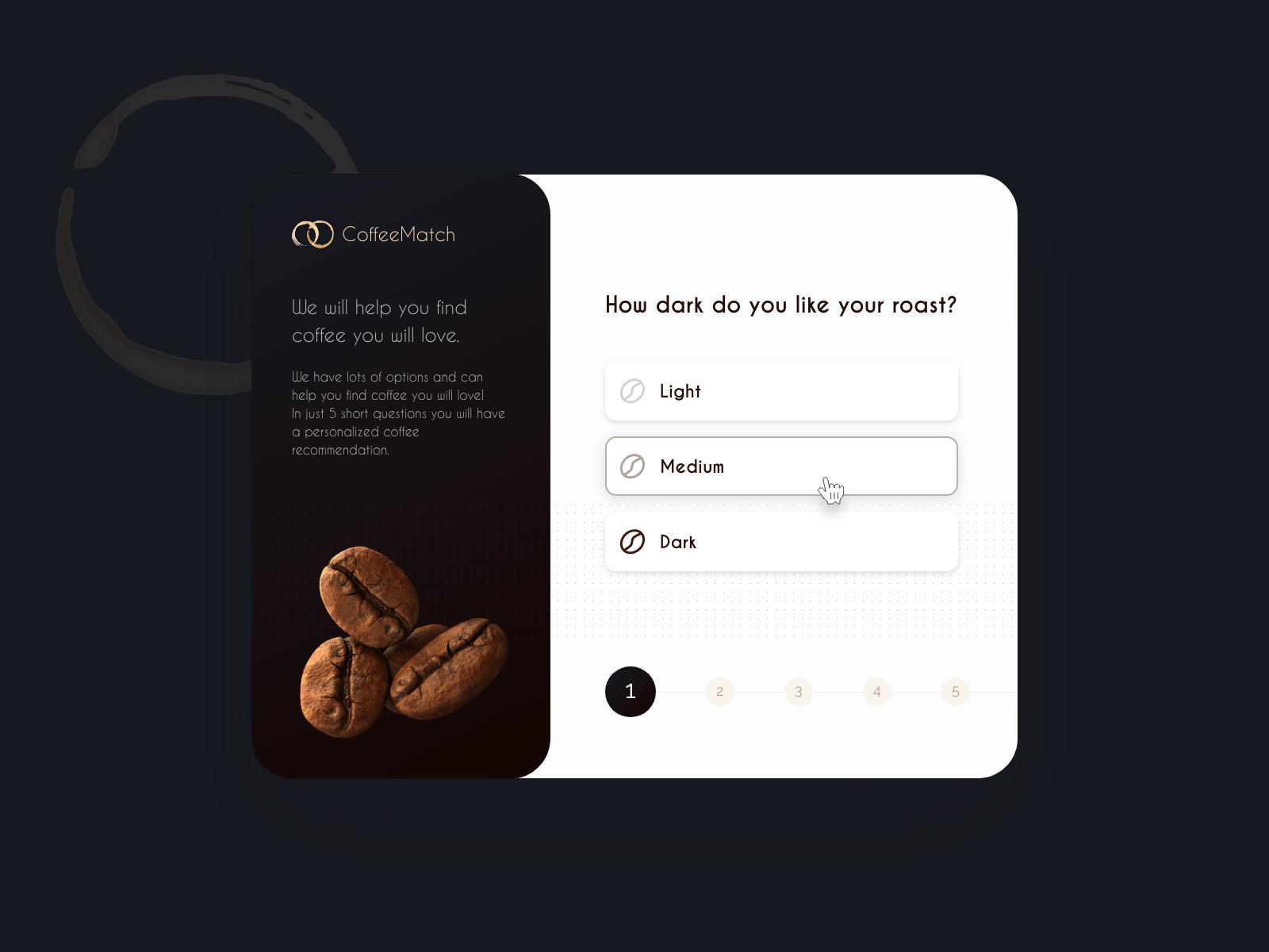 Coffee user journey card