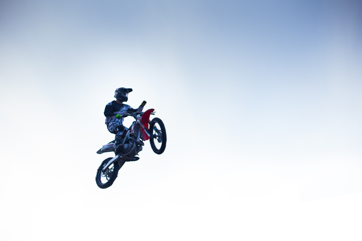 Bike in the air