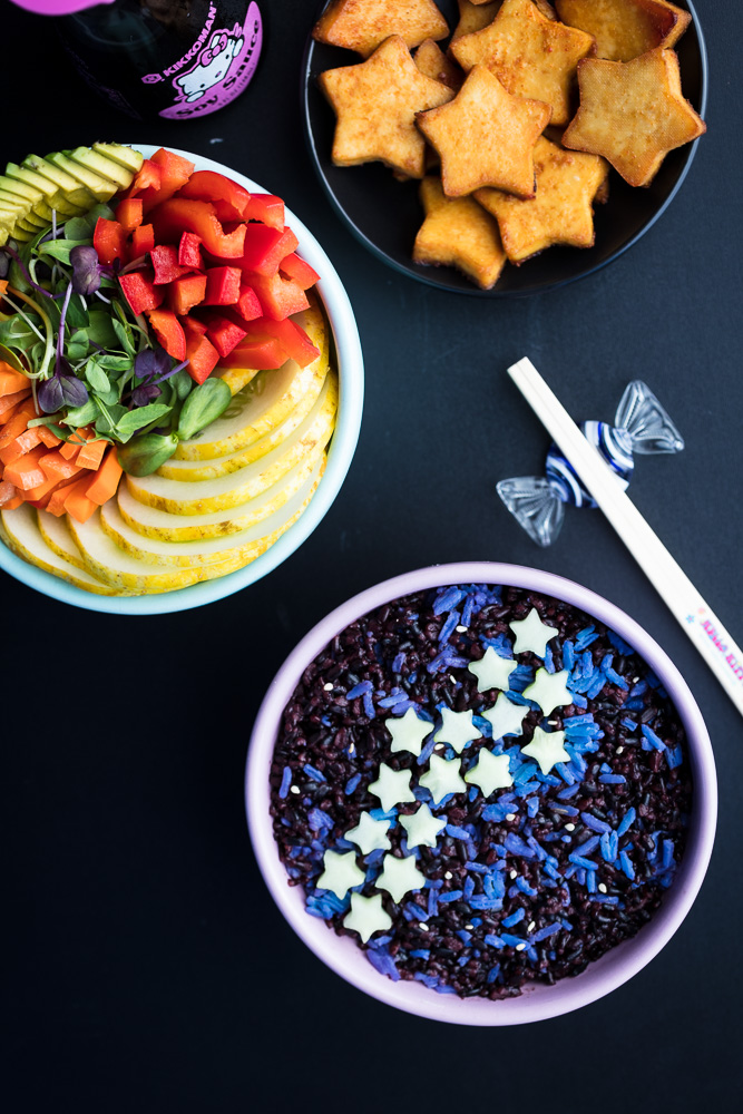 Vegan Galaxy Sushi Bowl