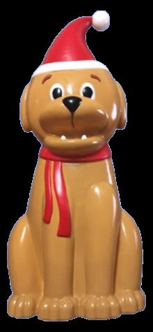 Dog in Santa Hat photo