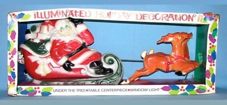 Santa, Sleigh, 2 Reindeer photo