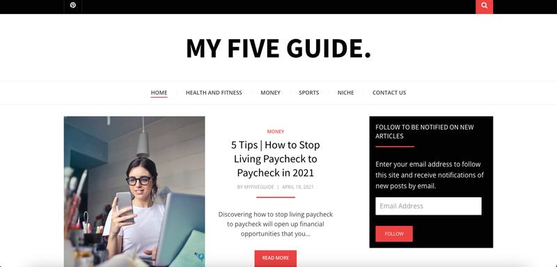 My five guide website
