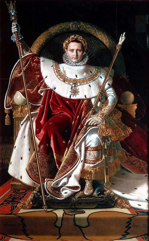 Napoleon I on his Imperial Throne, 1806 by Ingres, Musée de l'Armée, Paris