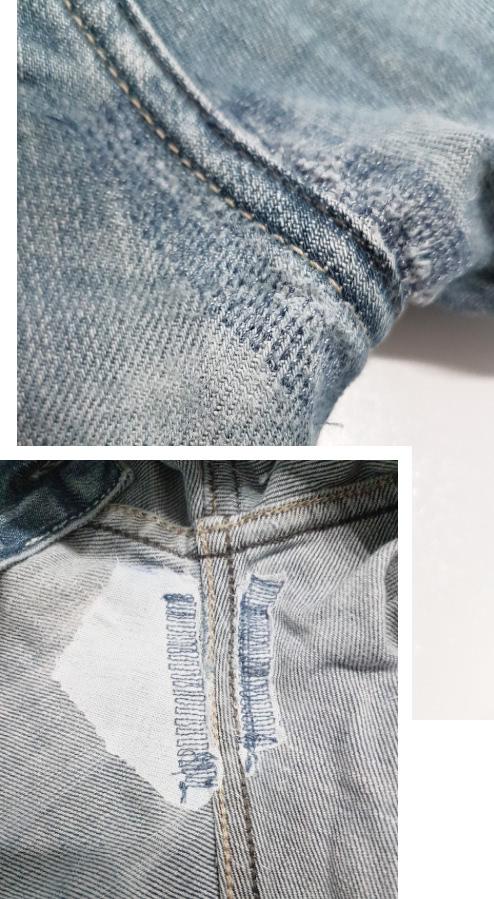 Refaire la trame du jean