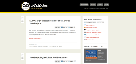 Addy Osmani's JavaScript Blog