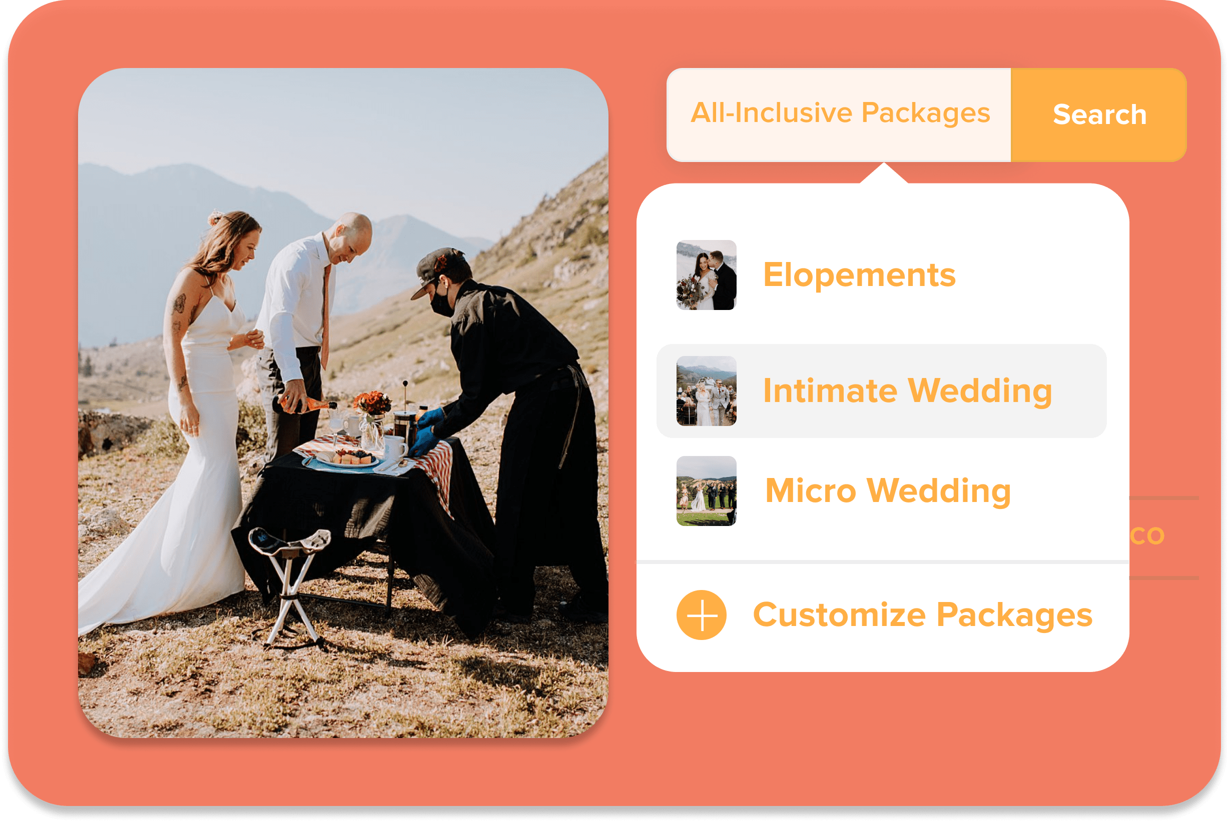 elopement and intimate wedding in colorado package