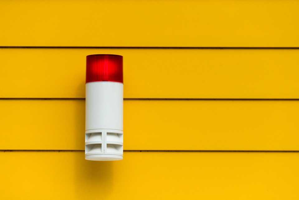 Alarm on yellow wall #alerts