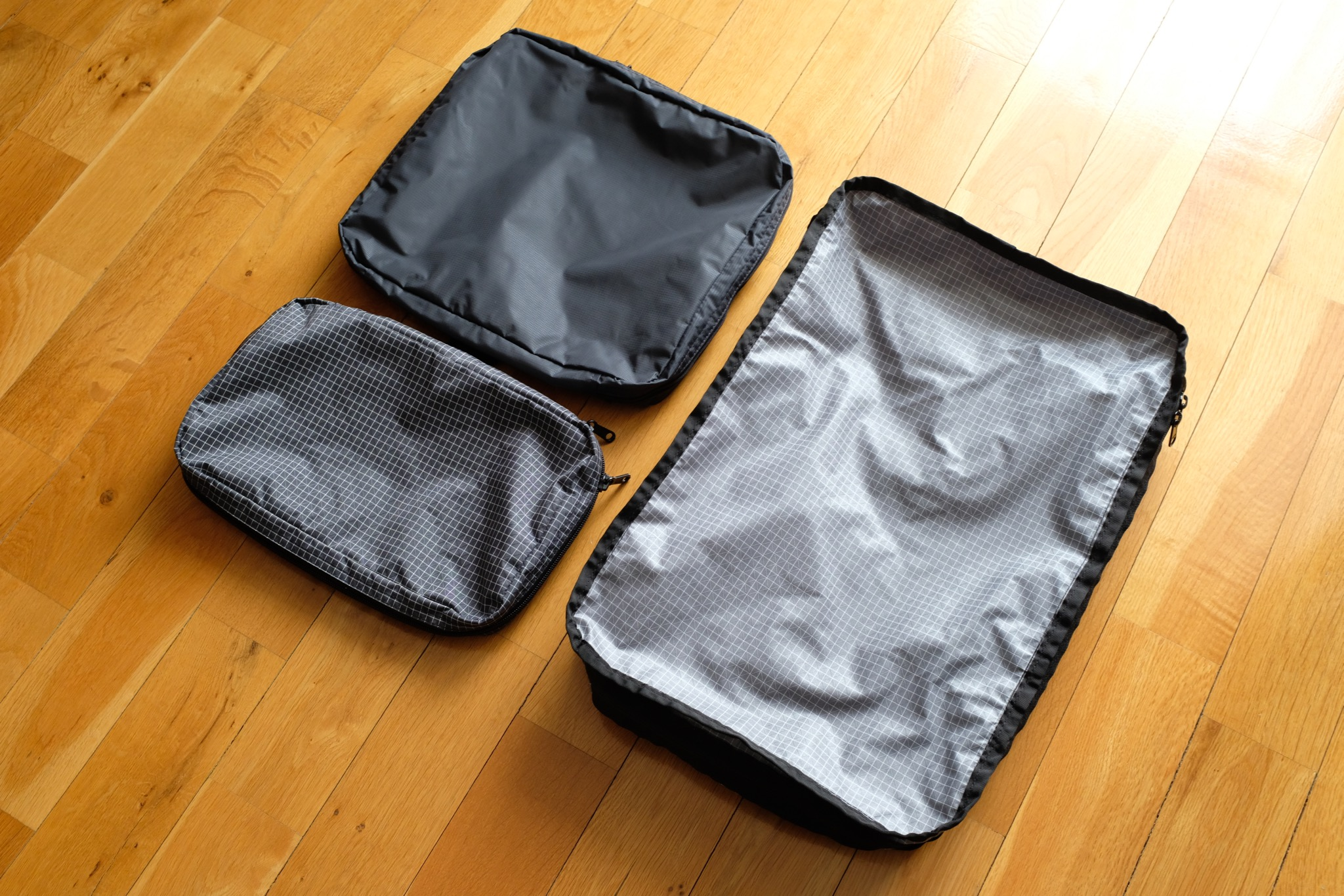 Small, Medium and Large packing cubes