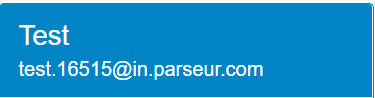 Example of email address for a Parseur mailbox