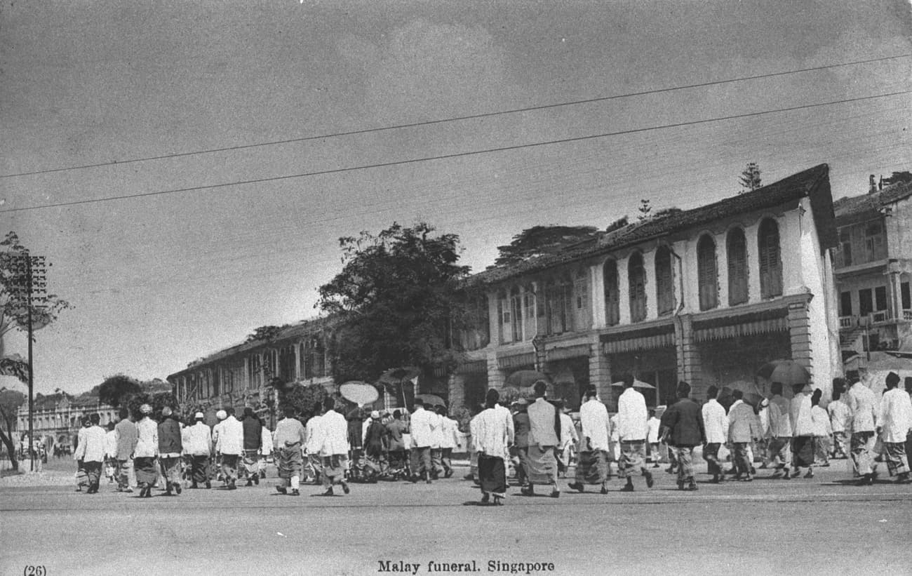 Malay funeral, 1900s